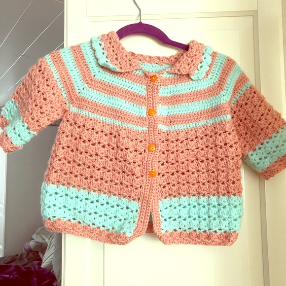 Baby girl handmade sweater